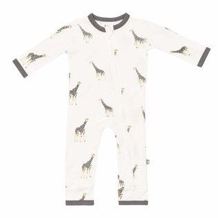 Kyte Baby Giraffe Print Zippered Bamboo Romper by Kyte Baby