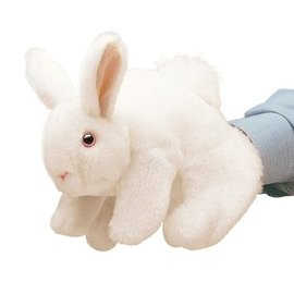 Folkmanis Puppets White Bunny Rabbit Hand Puppet
