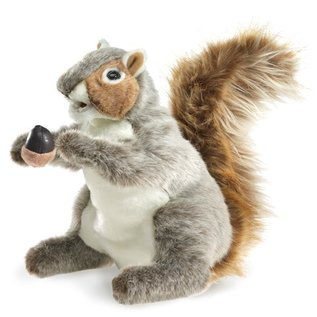 Folkmanis Puppets Gray Squirrel Hand Puppet