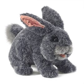 Folkmanis Puppets Gray Bunny Rabbit Hand Puppet