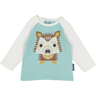 Coq en Pate Organic Cotton Hedgehog Raglan Top by Coq en Pate
