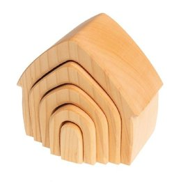 Grimms Natural Wooden Stacking House by Grimms