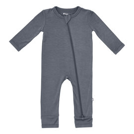 Kyte Baby Charcoal Colour Zippered Bamboo Romper by Kyte Baby