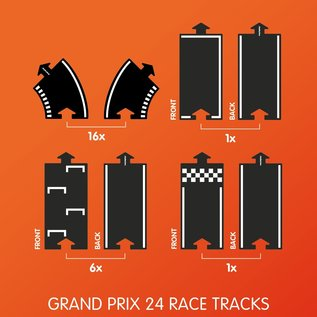 WaytoPlay Grand Prix Rubber Road 24 Piece Set by WaytoPlay