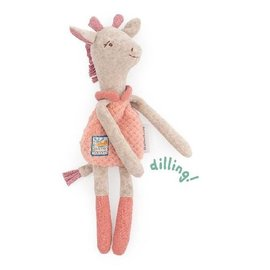 Moulin Roty Pink Giraffe Rattle Soft Toy by Moulin Roty
