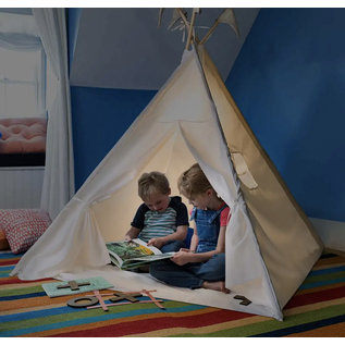 Hearthsong 4' Natural Canvas Lighted Play Tent