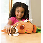 Hearthsong Bunny Carrot Cottage Plush Play Set