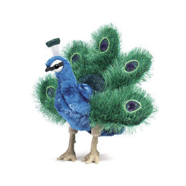 Folkmanis Puppets Peacock Hand Puppet