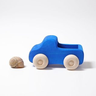 Grimms Small Blue Wooden Truck
