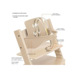 Stokke TRIPP TRAPP® + Baby set, Harness and Extended glider High Chair by Stokke
