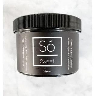 So Luxury So Sweet Mineral Sugar Face &Body Scrub ~  Vanilla Mint Coffee(Made in Canada)