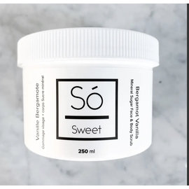 So Luxury So Sweet Mineral Sugar Face & Body Scrub ~ Bergamot Vanilla (Made in Canada)