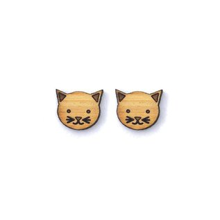 Cabin + Cub Bamboo Wood Earrings