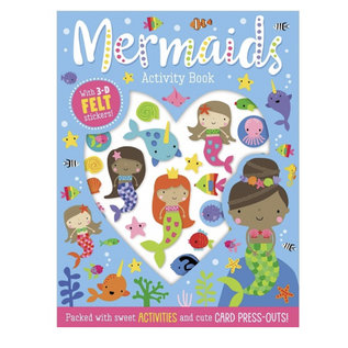 Make Believe Ideas Mermaids Activity Book with Felt Stickers