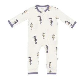 Kyte Baby Seahorse Print Zippered Bamboo Romper by Kyte Baby