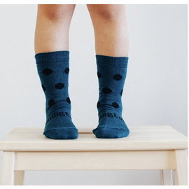Lamington Lake Print Merino Wool Crew Length Socks