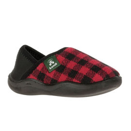 Kamik Red/Black Cozytime Kid's Slippers by Kamik