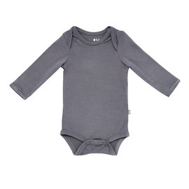 Kyte Baby Long Sleeve Charcoal Colour Bamboo Bodysuit by Kyte Baby