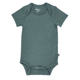 Kyte Baby Pine Colour Bamboo Short Sleeve Bodysuit by Kyte Baby