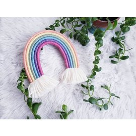Sparkle Pastel Woven Rainbow Wall Hanging