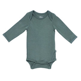 Kyte Baby Pine Colour Bamboo Long Sleeve Bodysuit by Kyte Baby
