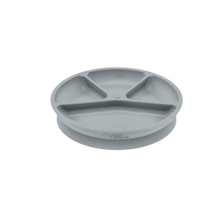 Green Sprouts Silicone Learning Plate Divided (Grey)