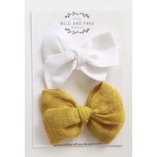 Beautiful Alligator Clip Hair Bows (2-Pack) Made in Canada