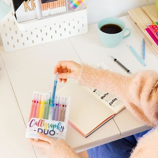 Ooly Calligraphy Duo Markers (12 Pack)