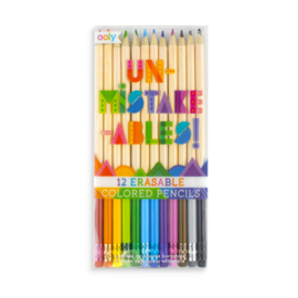 Ooly Un-Mistake-Ables Erasable Coloured Pencils (12 Pack)