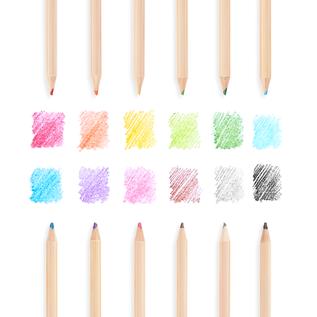 Ooly Un-Mistake-Ables Erasable Coloured Pencils (12 Pack)