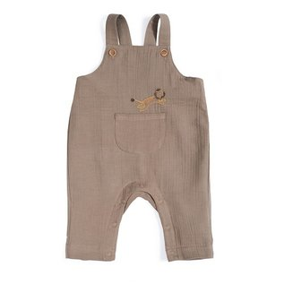 Moulin Roty Khaki Muslin Dungarees by Moulin Roty