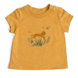 Moulin Roty Yellow Lion Print T-Shirt by Moulin Roty