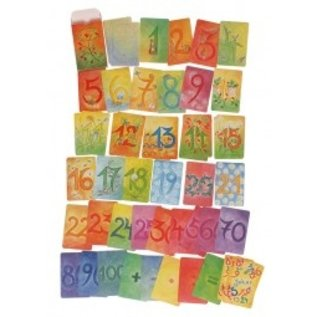 Grimms Watercolours Cards Number Series - Supplementary Pack