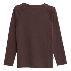 WHEAT KIDS Eggplant Wool Long Sleeve Top by Wheat Kids