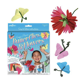 Crepe Paper Butterflies & Flowers Craft Kit