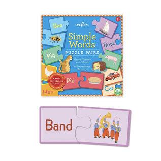 Eeboo Simple Words Puzzle Pairs (A Pre-Reading Activity)