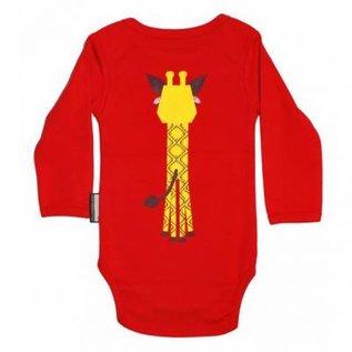 Coq en Pate Red Giraffe Onesie by Coq en Pate
