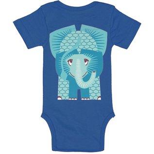 Coq en Pate Blue Elephant Onesie by Coq en Pate