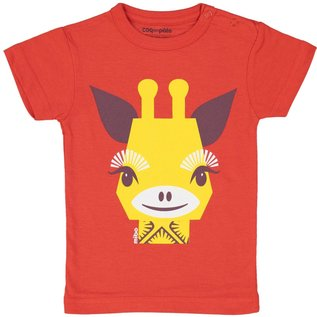 Coq en Pate Red Giraffe T-Shirt by Coq en Pate