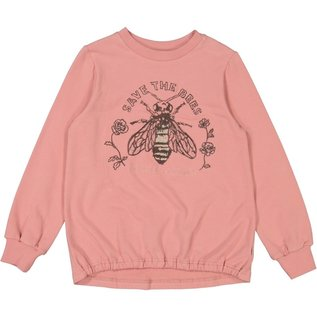 WHEAT KIDS Bee Sweatshirt Rosey Pink by Wheat Kids