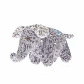 Beba Bean Knit Polka Dot Elephant Rattle