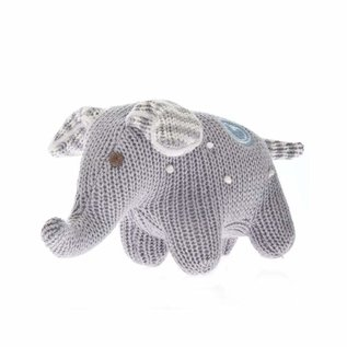 Beba Bean Knit Polka Dot Elephant Rattle