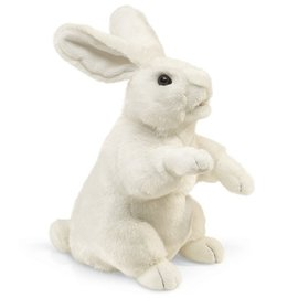 Folkmanis Puppets Standing White Rabbit Hand Puppet