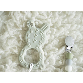 Brumbly Baby Teething Bunny & Pacifier Clip Set