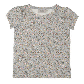 WHEAT KIDS T-Shirt Milka Dusty Dove Flowers by Wheat Kids
