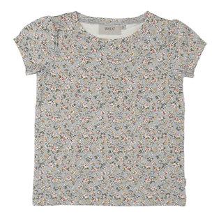 WHEAT KIDS T-Shirt Milka Dusty Dove Flowers by Wheat Kids