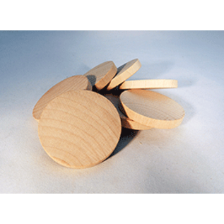 """Wooden Disc (2"""" x 1/4"""") 2-Pack"""