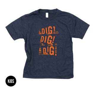 Dig, Dig, Dig Kids Construction Tee
