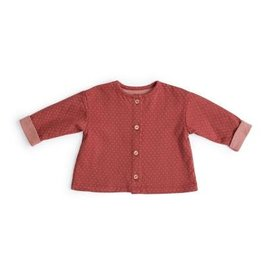 Moulin Roty Bonnie Style Two-Toned Jacquard Cardigan by Moulin Roty