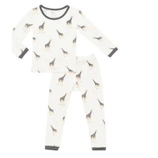 Kyte Baby Giraffe Print Bamboo PJs by Kyte